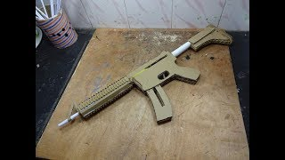 How To Make A M4 That Shoots - With Magazine - (cardboard Gun)