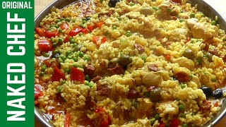 Paella recipe Chicken & Chorizo How to cook Spanish food