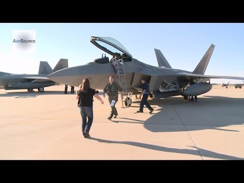 F-22 Raptors - 27th Fighter Squadron Returns to Langley