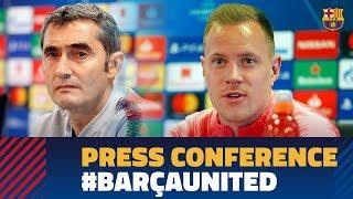 BARÇA 3-0 MANCHESTER UNITED | Ter Stegen & Valverde's full press conference