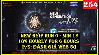FX-HOURLY.COM - NEW HYIP SITE HOURLY - RUN 0 - MIN 1$ - PLAN: 18% HOURLY FOR 6 HOURS