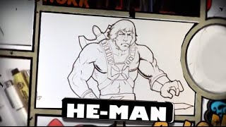 How to Draw He-Man from Masters of the Universe - Easy Drawings