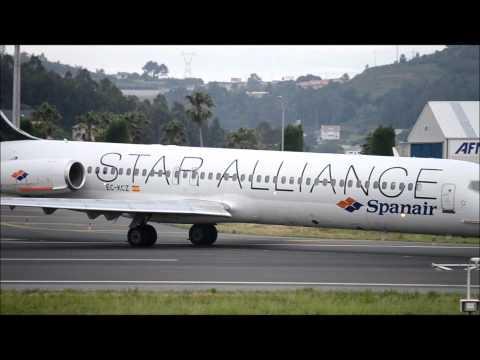 despegue MD-87  spanair alvedro HD