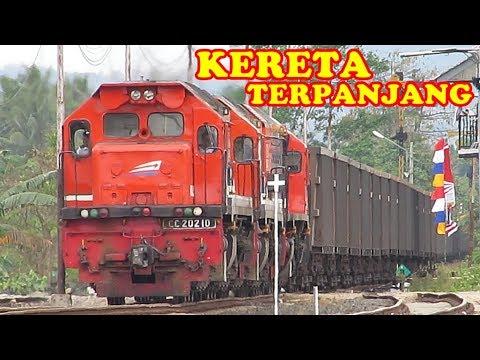 Inilah KERETA TERPANJANG Di Indonesia