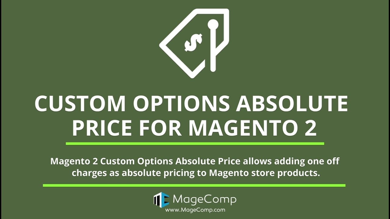 Magento 2 Custom Options Absolute Price, Absolute Pricing extension