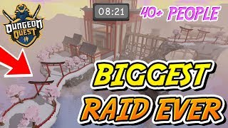 THE BIGGEST SAMURAI PALACE DUNGEON QUEST RAID EVER!! (Roblox)