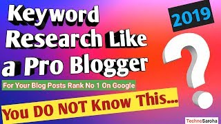 【2019】Keyword Research Tutorial For Blog Posts-Rank Website #1 on Google |Free SEO Tips|More Traffic