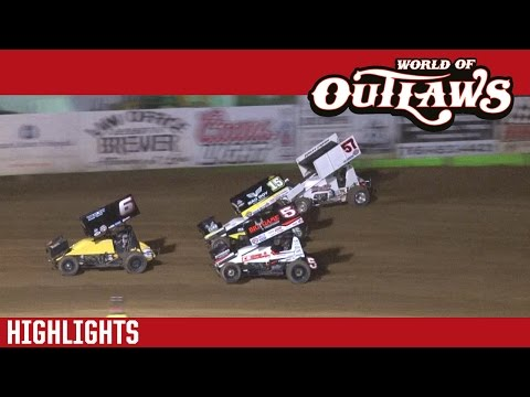 World of Outlaws Craftsman Sprint Cars Lincoln Park Speedway June 8th, 2016 | HIGHLIGHTS
