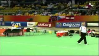 Тройной прыжок мужчины 17,90 м  World Record Doha 2010 Teddy Tamgho