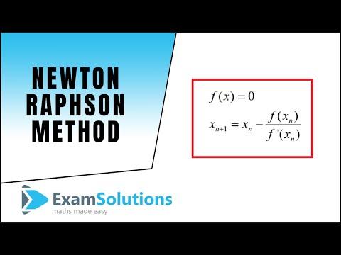 Newton-Raphson method : ExamSolutions