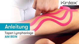 Schwellung am Bein tapen (Anleitung + Video)