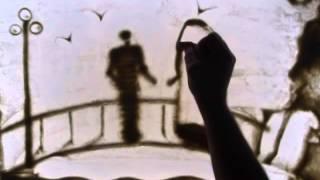Рисование песком История любви