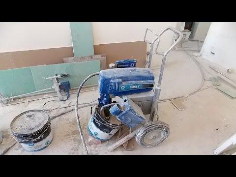 Механизированная шпаклевка стен и потолков, подготовка под покраску, поклейку обоев, выравнивание