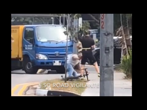 Truck Driver Punched to Ground After Charging at Cyclist