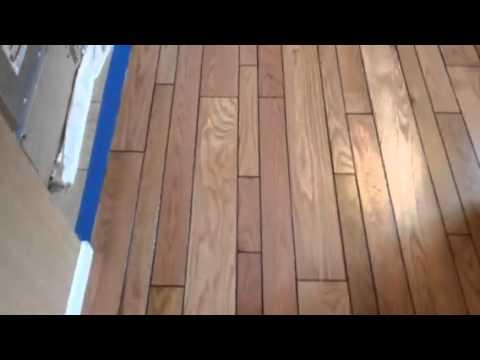 After Video Of A Random Width Oak Plank Floor We