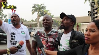 Happening Now In Abuja : Charly Boy group Storms Collation Centre, ICC Over Elections Postponement