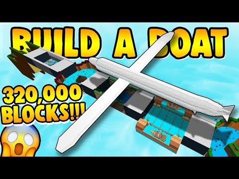 Build a Boat WORLD RECORD AIRPLANE!!! (OVER 320,000 BLOCKS)