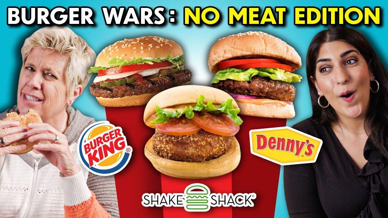 Ranking BEST Fast Food Veggie Burgers | People Vs. Food