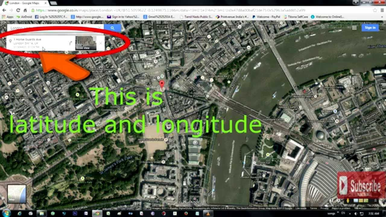 HOW TO GET LATITUDE AND LONGITUDE IN GOOGLE MAP YouTube - Map using latitude and longitude to find a place