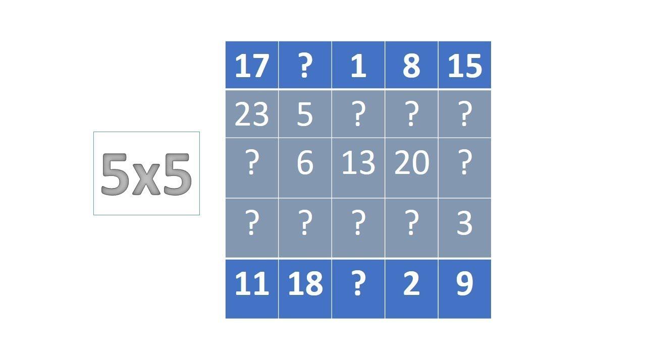 Magic Square Tutorial 5x5 Part 3