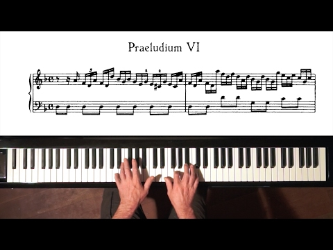 Bach Prelude and Fugue No.6 (Moderate Tempo) Well Tempered Clavier, Book 1 with Harmonic Pedal