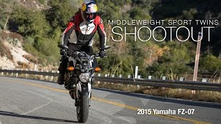 2015 Yamaha FZ-07 - Sport Twins Shootout Part 3 - MotoUSA