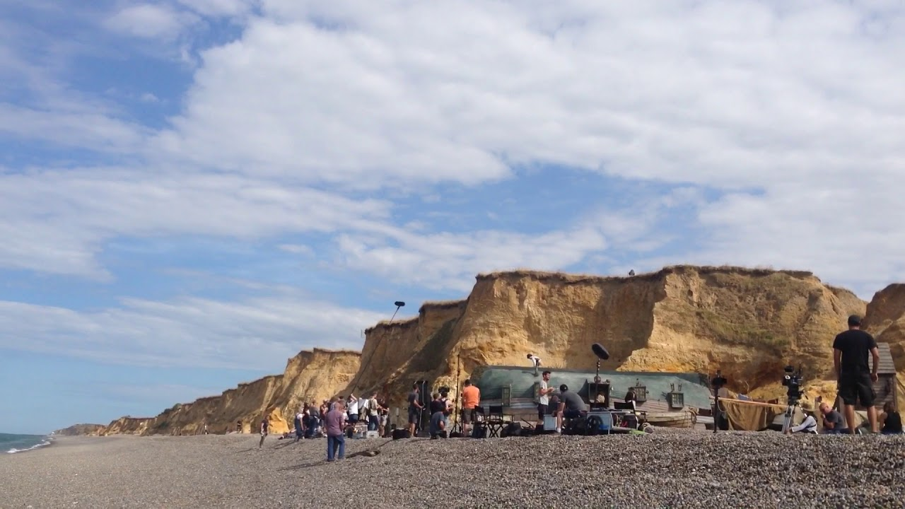 Filming David Copperfield on Weybourne beach - YouTube