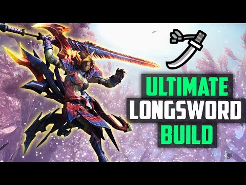 ✔️ CRAZY HIGH DAMAGE LONG SWORD ARMOR SET | Elementless  - DIVINE SLASHER  | Monster Hunter World