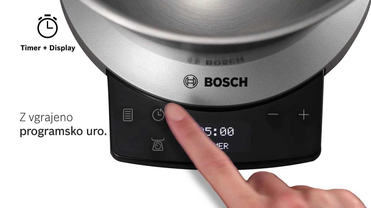 Kuhinjski aparat Bosch OptiMUM - programska ura - YouTube 899fbca75769