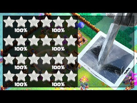 33 Stars in 30 Minutes - until the iPad SHATTERS! Clash of Clans 'Strategy' w/Peter17$