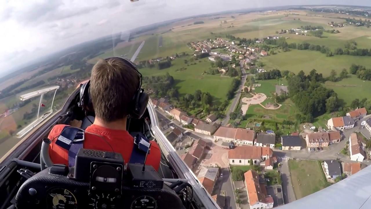 Vol en motoplaneur SF28 à Sarrebourg-Buhl