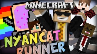 Minecraft: Nyan Cat Runner w/ Mitch, Jerome, Ashley and Charlie