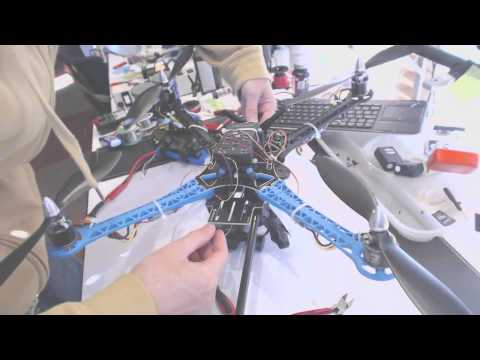 s500 drone quadcopter adjustments to boom gimbal antenna and