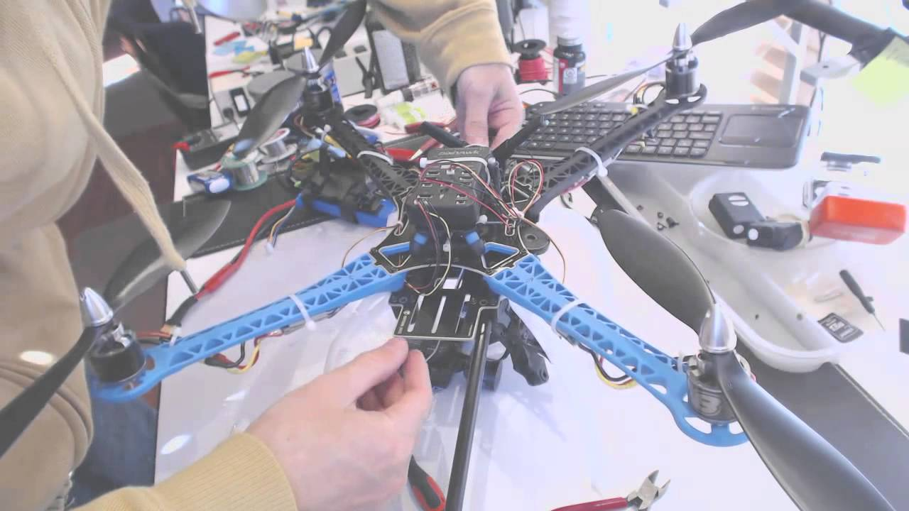 s500 drone quadcopter adjustments to boom gimbal antenna and receiver