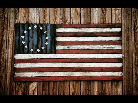 American Flag Hand Made! Distressed, Rustic