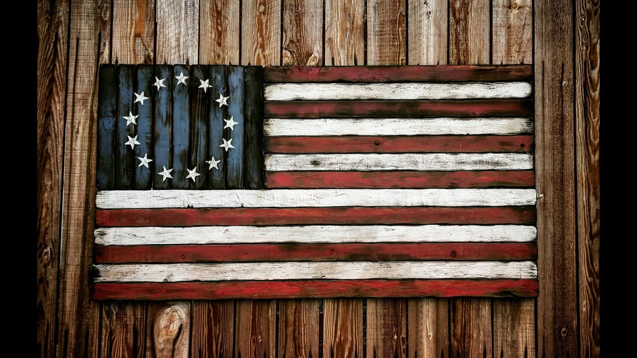 American Flag Hand Made Distressed Rustic Youtube