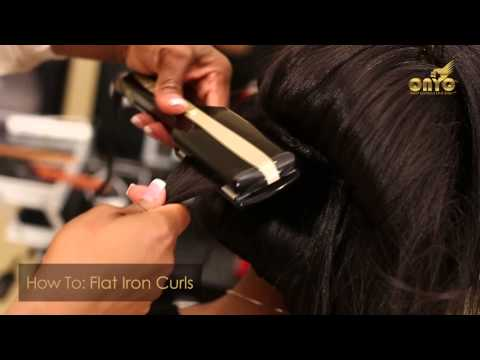 ONYC Hair Tutorial - How To Do Flat Iron Curls