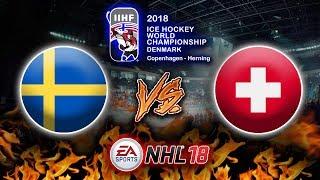 MS 2018 - Finále - Švédsko vs. Švýcarsko | NHL 18 |