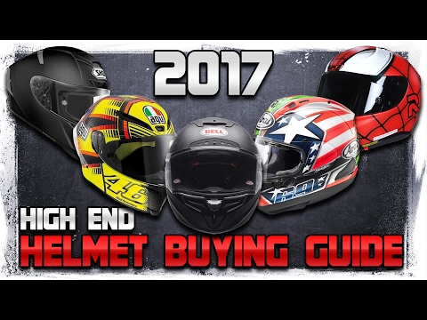 2017 High End Motorcycle Helmet Buying Guide from Sportbiketrackgear.com