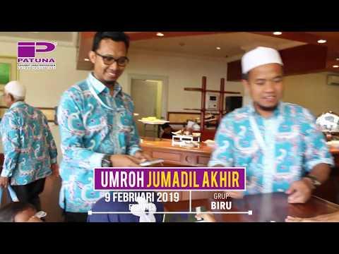 Keberangkatan rombongan Jamaah Umrah Milad Patuna Grup 17 Maret 2019, berkumpul di Gedung Serbaguna .
