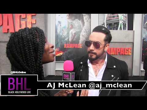 AJ McLean Calls Justin Timberlake a Legend at the Rampage Premiere
