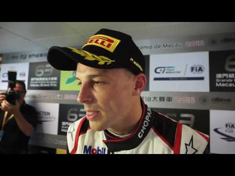 2016 FIA GT World Cup - Earl Bamber interview after qualification race