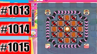 Candy Crush Saga Level 1013, 1014, And 1015 NEW | Complete!
