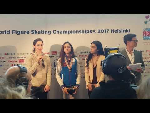 Interview after Ladies' small medals ceremony #Helsinki2017