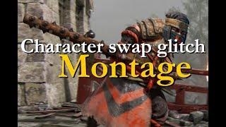 For Honor - Character swap glitch montage! [shinobi stampede charge] [shinobi demon
