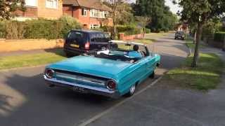 1964 Ford Galaxie 390 FE Big Block Convertible - Stainless Exhaust Sound. UK Right hand drive