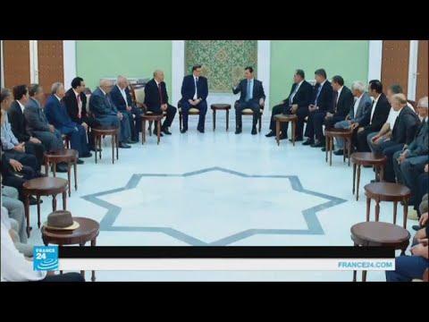 وفد من الاتحاد العام التونسي للشغل يلتقي الرئيس الأسد بدمشق  - 16:22-2017 / 8 / 1