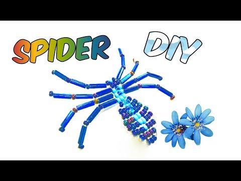 Паук из Бисера Мастер Класс для начинающих! Паучок из Бисера Своими Руками/ Bead Spider!