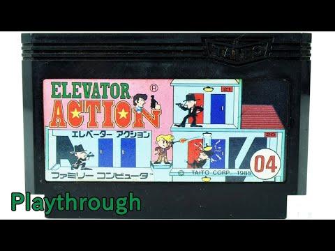 [ゲーム動画] エレベーター・アクション OP~最終面 (1985年 ファミコン) 【NES Longplay Elevator Action (Full Games)】
