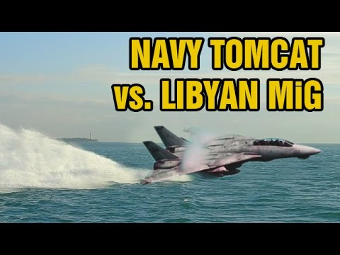 Unedited gun camera footage and audio from a 1989 dogfight between U.S. Navy F-14 Tomcats vs. Libyan MiG-23 Floggers. It gets intense at the end, but you know who comes out victorious